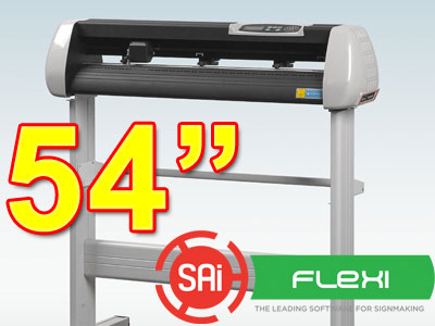 "SK1350T 54"" VINYL CUTTER with PC Flexi 11 CONTOUR(free shipping)"