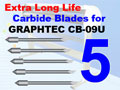 5 pack GRAPHTEC High Quality Carbide Blades (Free Shipping)