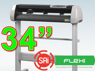 "SK870T 34"" VINYL CUTTER with PC Flexi 11 CONTOUR (free shipping)"