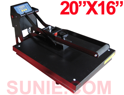"Digital 20"" D X 16"" W Clamshell Flat Heat Press (Free Shipping)"