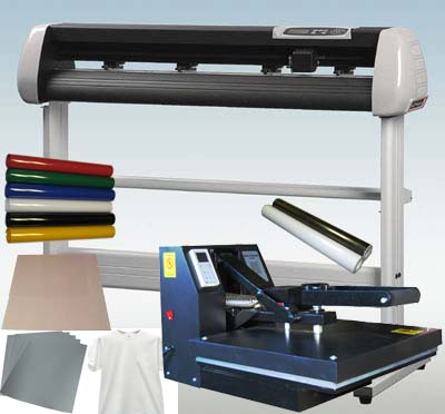 "16"" X 20"" Heat Press & 34"" Vinyl Cutter Plotter Starter Package"